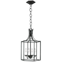 Generation Lighting AC1004SMS AH by Alexa Hampton Bantry House 4 Light 13 inch Smith Steel Lantern Pendant Ceiling Light