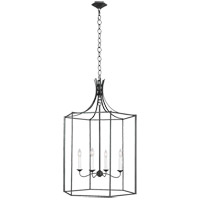Generation Lighting AC1024SMS AH by Alexa Hampton Bantry House 4 Light 24 inch Smith Steel Lantern Pendant Ceiling Light