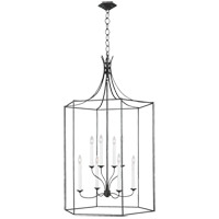 Generation Lighting AC1038SMS AH by Alexa Hampton Bantry House 8 Light 29 inch Smith Steel Lantern Pendant Ceiling Light