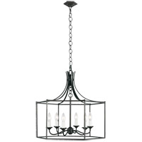 Generation Lighting AC1046SMS AH by Alexa Hampton Bantry House 6 Light 22 inch Smith Steel Lantern Pendant Ceiling Light