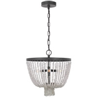 Generation Lighting AC1055DWZ AH by Alexa Hampton Leon 5 Light 19 inch Dark Weathered Zinc Chandelier Ceiling Light