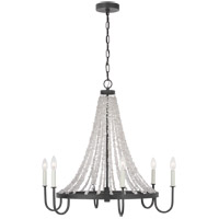 Generation Lighting AC1066DWZ AH by Alexa Hampton Leon 6 Light 30 inch Dark Weathered Zinc Chandelier Ceiling Light