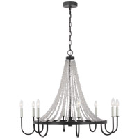 Generation Lighting AC1078DWZ AH by Alexa Hampton Leon 8 Light 36 inch Dark Weathered Zinc Chandelier Ceiling Light
