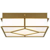 Generation Lighting AF1063BBS AH by Alexa Hampton Transom 3 Light 13 inch Burnished Brass Flush Mount Ceiling Light