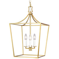 Generation Lighting CC1003BBS Chapman & Myers Southold 3 Light 14 inch Burnished Brass Hanging Lantern Ceiling Light
