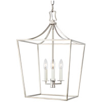 Generation Lighting CC1003PN Chapman & Myers Southold 3 Light 14 inch Polished Nickel Hanging Lantern Ceiling Light