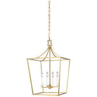 Generation Lighting CC1014BBS Chapman & Myers Southold 4 Light 18 inch Burnished Brass Hanging Lantern Ceiling Light