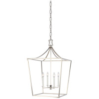 Generation Lighting CC1014PN Chapman & Myers Southold 4 Light 18 inch Polished Nickel Hanging Lantern Ceiling Light