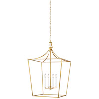 Generation Lighting CC1024BBS Chapman & Myers Southold 4 Light 24 inch Burnished Brass Hanging Lantern Ceiling Light