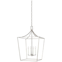 Generation Lighting CC1024PN Chapman & Myers Southold 4 Light 24 inch Polished Nickel Hanging Lantern Ceiling Light