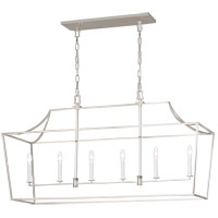 Generation Lighting CC1036PN Chapman & Myers Southold 6 Light 48 inch Polished Nickel Hanging Linear Lantern Ceiling Light