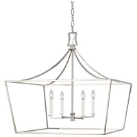 Generation Lighting CC1044PN Chapman & Myers Southold 4 Light 28 inch Polished Nickel Hanging Wide Lantern Ceiling Light