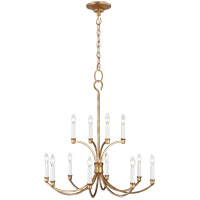 Generation Lighting CC10612ADB Chapman & Myers Westerly 12 Light 29 inch Antique Gild Chandelier Ceiling Light