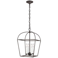 Generation Lighting CC1084SMS Chapman & Myers Stonington 4 Light 13 inch Smith Steel Hanging Lantern Ceiling Light