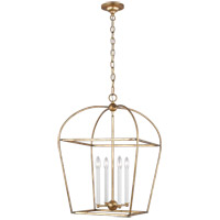 Generation Lighting CC1094ADB Chapman & Myers Stonington 4 Light 18 inch Antique Gild Hanging Lantern Ceiling Light