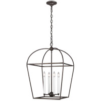 Generation Lighting CC1094SMS Chapman & Myers Stonington 4 Light 18 inch Smith Steel Hanging Lantern Ceiling Light