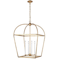Generation Lighting CC1104ADB Chapman & Myers Stonington 4 Light 25 inch Antique Gild Hanging Lantern Ceiling Light