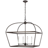Generation Lighting CC1114SMS Chapman & Myers Stonington 4 Light 30 inch Smith Steel Hanging Lantern Ceiling Light