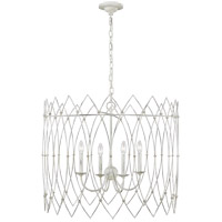 Generation Lighting CC1154RWT Chapman & Myers Gardner 4 Light 31 inch Rustic White Chandelier Ceiling Light