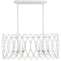 Generation Lighting CC1166RWT Chapman & Myers Gardner 6 Light 17 inch Rustic White Chandelier Ceiling Light