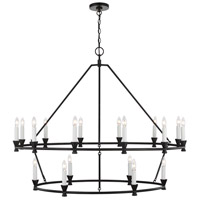 Generation Lighting CC11818AI Chapman & Myers Keystone 18 Light 49 inch Aged Iron Chandelier Ceiling Light