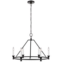 Generation Lighting CC1196AI C&M by Chapman & Myers Keystone 6 Light 29 inch Aged Iron Chandelier Ceiling Light