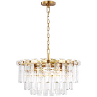 Generation Lighting CC12610BBS C&M by Chapman & Myers Arden 10 Light 24 inch Burnished Brass Chandelier Ceiling Light