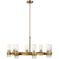Generation Lighting CC1378BBS C&M by Chapman & Myers Geneva 8 Light 33 inch Burnished Brass Chandelier Ceiling Light