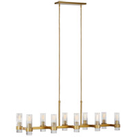 Generation Lighting CC13810BBS C&M by Champan & Myers Geneva 10 Light 14 inch Burnished Brass Chandelier Ceiling Light