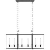 Generation Lighting CC1406AI C&M by Champan & Myers Keystone 6 Light 16 inch Aged Iron Chandelier Ceiling Light