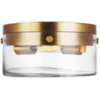 Generation Lighting CF1002BBS Chapman & Myers Garrett 2 Light 11 inch Burnished Brass Flush Mount Ceiling Light