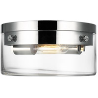 Generation Lighting CF1002PN Chapman & Myers Garrett 2 Light 11 inch Polished Nickel Flush Mount Ceiling Light