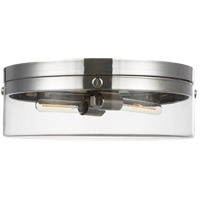 Generation Lighting CF1032PN C&M by Chapman & Myers Garrett 2 Light 18 inch Polished Nickel Flush Mount Ceiling Light