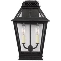 Generation Lighting CO1012DWZ C&M by Champan & Myers Falmouth 2 Light 14 inch Dark Weathered Zinc Outdoor Wall Lantern
