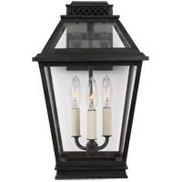 Generation Lighting CO1023DWZ C&M by Champan & Myers Falmouth 3 Light 16 inch Dark Weathered Zinc Outdoor Wall Lantern