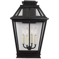 Generation Lighting CO1034DWZ C&M by Champan & Myers Falmouth 4 Light 19 inch Dark Weathered Zinc Outdoor Wall Lantern
