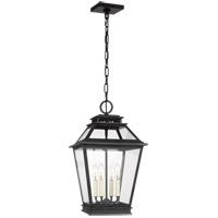 Generation Lighting CO1054DWZ C&M by Champan & Myers Falmouth 4 Light 12 inch Dark Weathered Zinc Outdoor Hanging Lantern