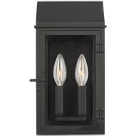 Generation Lighting CO1252TXB C&M by Chapman & Myers Hingham 2 Light 12 inch Textured Black Outdoor Wall Lantern