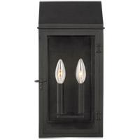 Generation Lighting CO1262TXB C&M by Champan & Myers Hingham 2 Light 16 inch Textured Black Outdoor Wall Lantern
