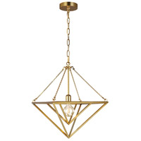 Generation Lighting CP1131BBS C&M by Chapman & Myers Carat 1 Light 16 inch Burnished Brass Pendant Ceiling Light