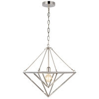 Generation Lighting CP1131PN C&M by Champan & Myers Carat 1 Light 16 inch Polished Nickel Pendant Ceiling Light