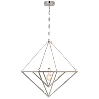 Generation Lighting CP1141PN C&M by Champan & Myers Carat 1 Light 20 inch Polished Nickel Pendant Ceiling Light
