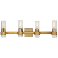 Generation Lighting CV1024BBS C&M by Chapman & Myers Geneva 4 Light 30 inch Burnished Brass Wall Bath Vanity Wall Light