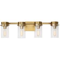 Generation Lighting CW1004BBS C&M by Chapman & Myers Garrett 4 Light 29 inch Burnished Brass Wall Bath Vanity Wall Light