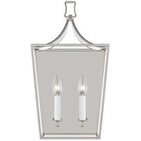 Generation Lighting CW1012PN Chapman & Myers Southold 2 Light 10 inch Polished Nickel Wall Sconce Wall Light