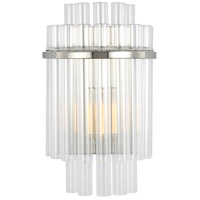 Generation Lighting CW1071PN C&M by Chapman & Myers Beckett 1 Light 8 inch Polished Nickel Sconce Wall Light