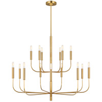Generation Lighting EC10015BBS ED Ellen DeGeneres Brianna 15 Light 49 inch Burnished Brass Chandelier Ceiling Light