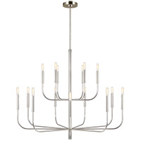 Generation Lighting EC10015PN ED Ellen DeGeneres Brianna 15 Light 49 inch Polished Nickel Chandelier Ceiling Light