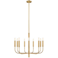 ED Ellen DeGeneres Brianna 9 Light 30 inch Burnished Brass Chandelier Ceiling Light