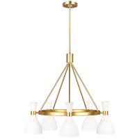 Generation Lighting EC1015MWT ED Ellen DeGeneres Joan 5 Light 32 inch Matte White Chandelier Ceiling Light